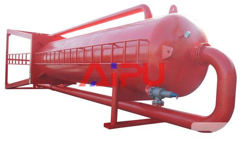 red color mud gas separator