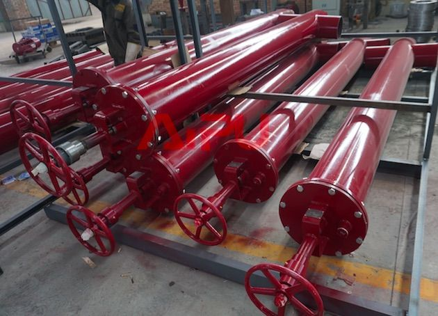 Mud tank suction valve and dump valve delivery