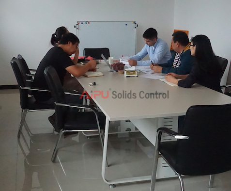 Drilling company visited Aipu for solids control equipment