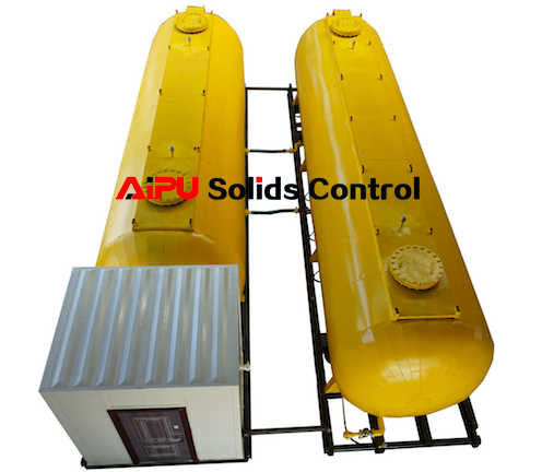 Diesel oil tank delivery with drilling rig