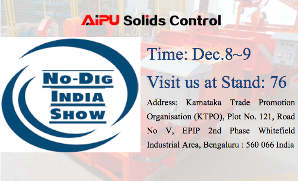 No Dig Show India 2017 in December