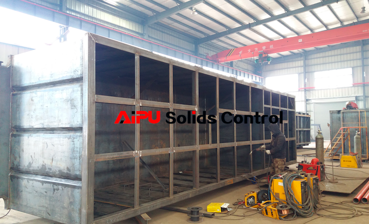 Oil drilling solids control system under manufacture