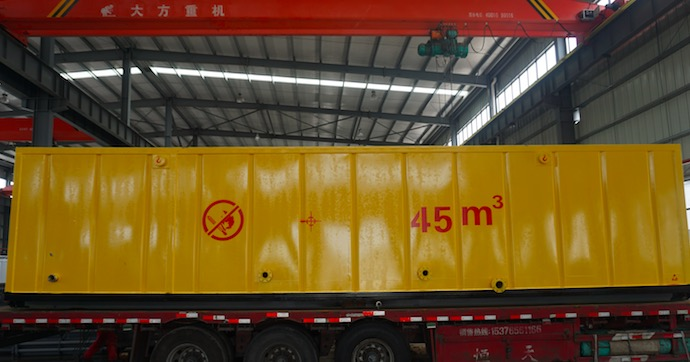 Diesel tanks for petroleum well drilling delivered