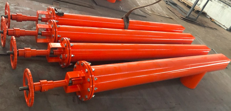 Oil drilling mud tank valves delivered to Middle East