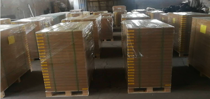 Thousand panels of shaker screen were delivered