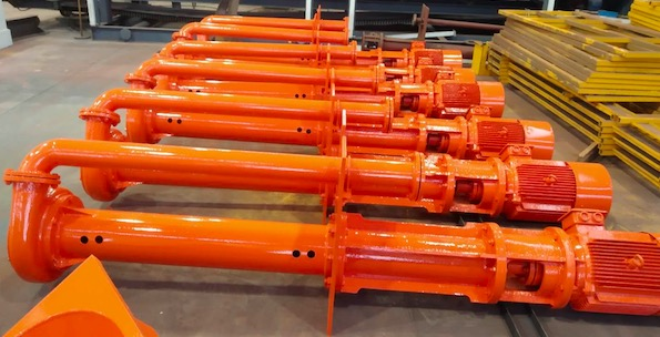Submersible pumps delivered for mud recycling user