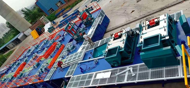Drilling fluids system delivered to oil rig facility