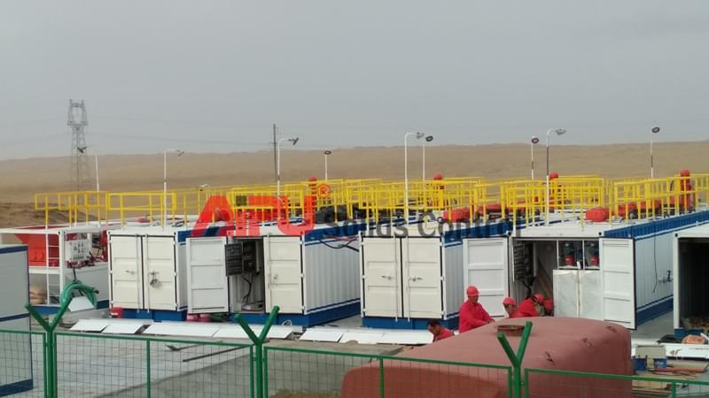 oil sludge treatment in drilling rig scene